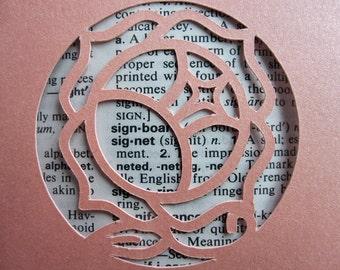 Revolutionary Girl Utena Rose Signet - Custom Cut Bookmark