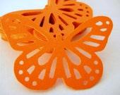 50 Bright Orange Butterfly punch die cut