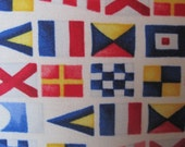 Classic Nautical Signal Flags Handmade Decorative Pillow