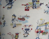 Lil' Sailor Kids Nautical Handmade Pillow 40's Repro Print