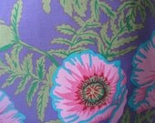Poppies Pop on Purple Pillow Handmade Tropical Decorative Throw