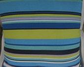 Summertime Stripes Beachy Decor  Handmade Decorative Pillow
