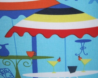 Tropical Resort Umbrellas Handmade Pillow Coastal Decor