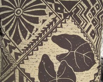 Hawaiian Handmade Tropical Pillow Faux Down Coffee Colors
