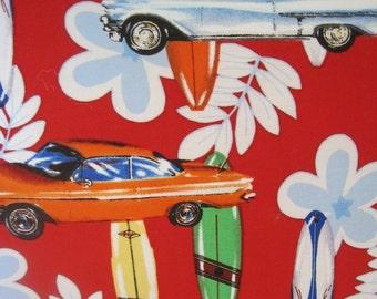 Catch a Wave- Surfboard, Vintage Cars - Handmade Pillow - Surfs Up, Dude