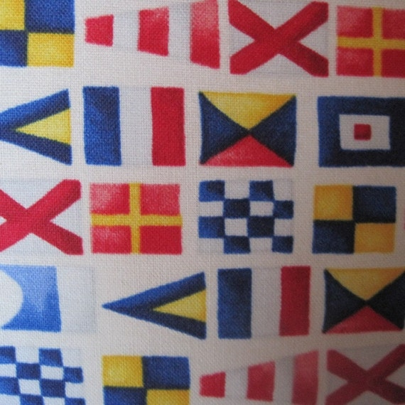 Classic Nautical Signal Flags Handmade Decorative Pillow