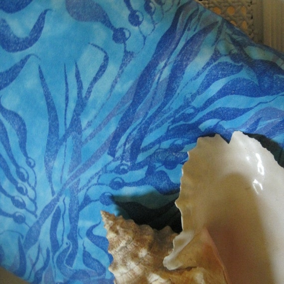Coastal Seaside Decor Kelp Seaweed Handmade Pillow Decorative Accent