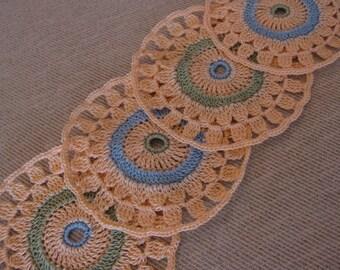 Crochet Coaster Set 'Peach'