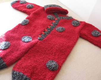 Lady Bug Overall and Hat