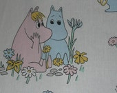 Adorable vintage Moomin fabric from the 70s