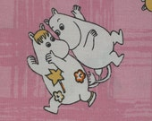 SCRAP Moomin fabric cotton Music, pink background