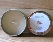 4oz Gardenia Pure Soy Candle Tin, DYE FREE