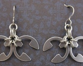 Stainless Steel and Titanium Butterfly Earrings