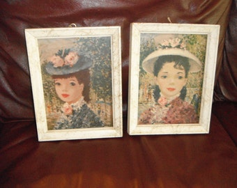 Pair of vintage French- Inspired Pictures