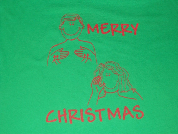 sign language Merry Christmas ( available in different colors and sizes)