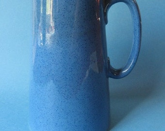 Vintage Moorcroft Speckled Blue Milk Pitcher Country Chic Art Pottery c. 1910