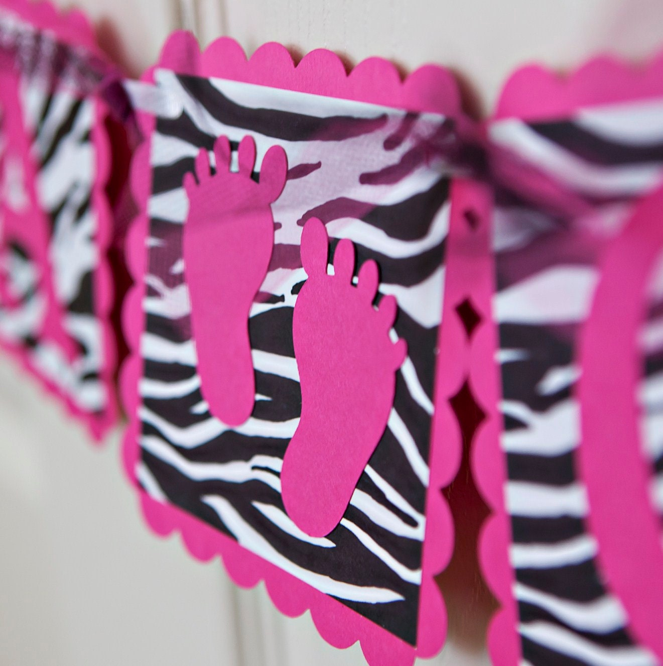 Pink animal print baby shower - photo#9
