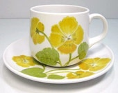 Noritake Flower Time ... Cups and Saucers set of 7