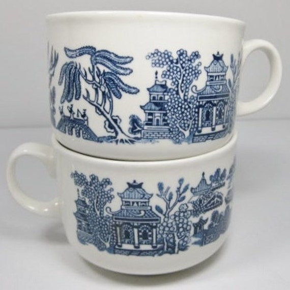 Blue Willow Mugs Churchill England