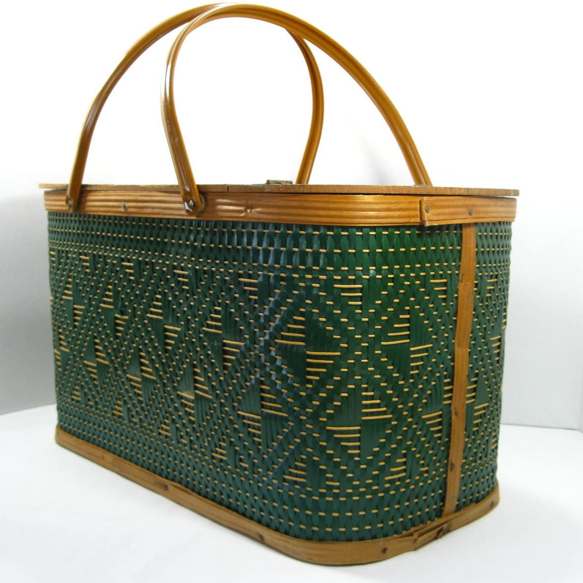 Picnic Basket With Wooden Lid Practical And By