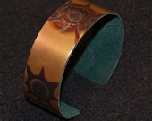 Copper cuff bracelet, oxidized bronze color jewelry