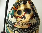 Geisha and Lotus Reversible Dice Bag