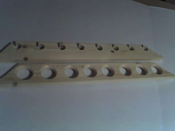 8 Hole Fishing Rod Pole Rack Wall Holder