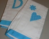Personalized Burp Cloths