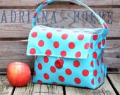 INSULATED Lunch Bag Short Box in Red Dot