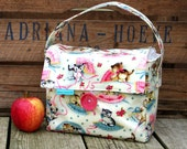 INSULATED Lunch Bag Short Box in Kitten with zipper