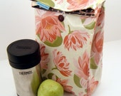 Lotus Reversible Lunch Bag Laminated Cotton