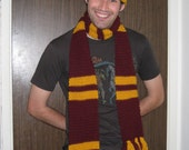 Harry Potter Gryffindor inspired scarf version two