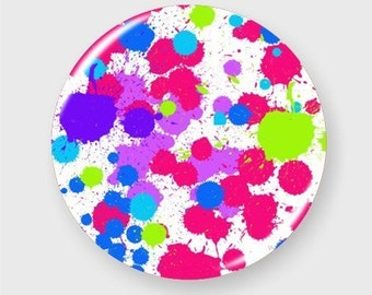 Paint Splatter Pin Back Button Badge