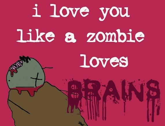 Zombie Love notecard