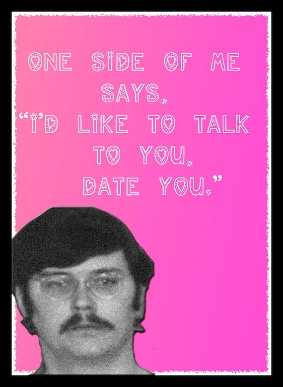 Ed Kemper coed killer Valentine card