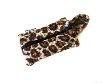 iPhone 4 Case / iPod Case / iPhone 4 Fabric Case / iPhone Hoodie Case (Leopard Print / Animal Print)