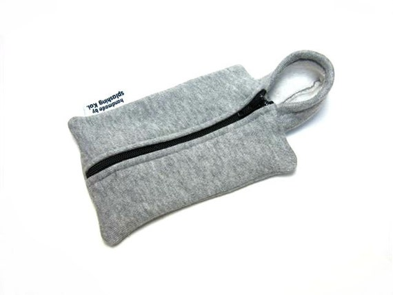 iPhone 4 Case / iPod Case / iPhone 4 Fabric Case / iPhone Hoodie Case (Light Grey - Black)