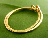 22K Gold Urban Hoop Earrings - Free Shipping