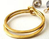 18k Gold Hoop Earrings Urban  -  Free Shipping