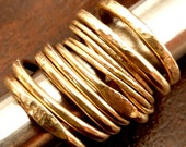 Modern Stackable  Gold Ring Handmade