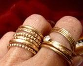 Modern Stackable Gold Ring Handmade