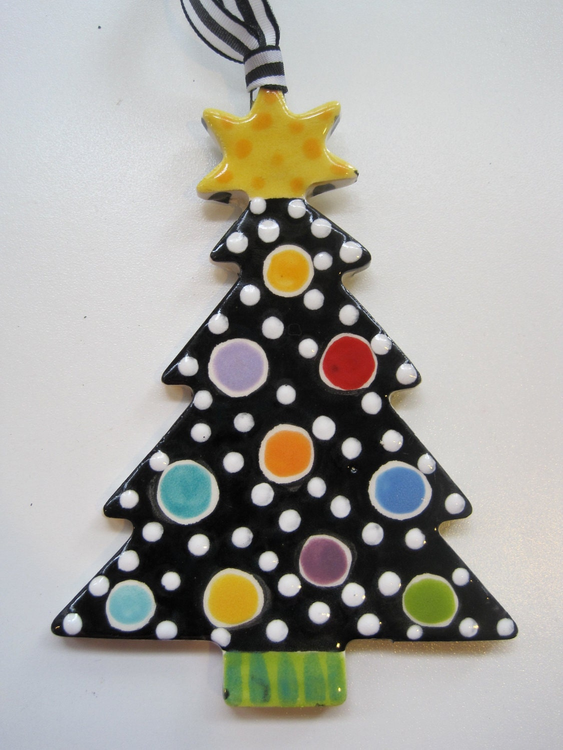 Christmas Pottery Barn Knock Offs And Others Too: Whimsical Christmas Tree Ceramic Ornament