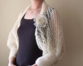 Mohair Ivory Bridal Shrug -  Ready for shipping