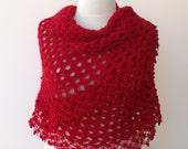 Red Fashion-Carmen Mohair Shawl-Ready For Shipping-Fall Fashion
