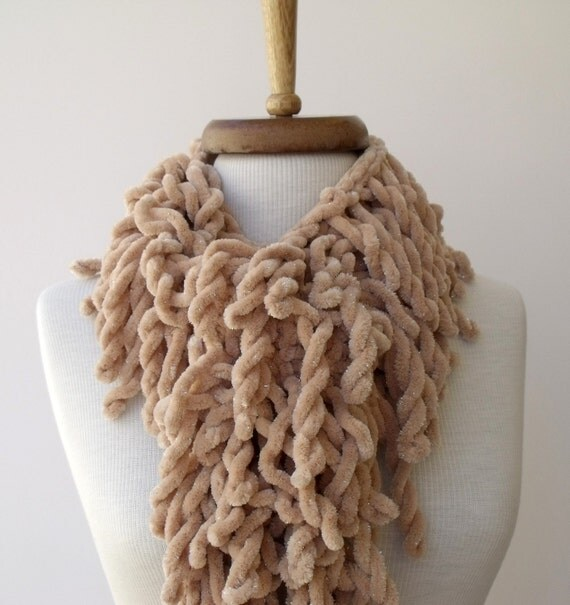 Light  Brown Tasseled Scarf-Ready for shipping-Fall Fashion-2012 Winter Trend-For Gift