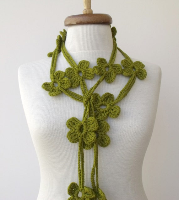 Green Bloom Scarf-Ready For Shipping-Fall Fashion