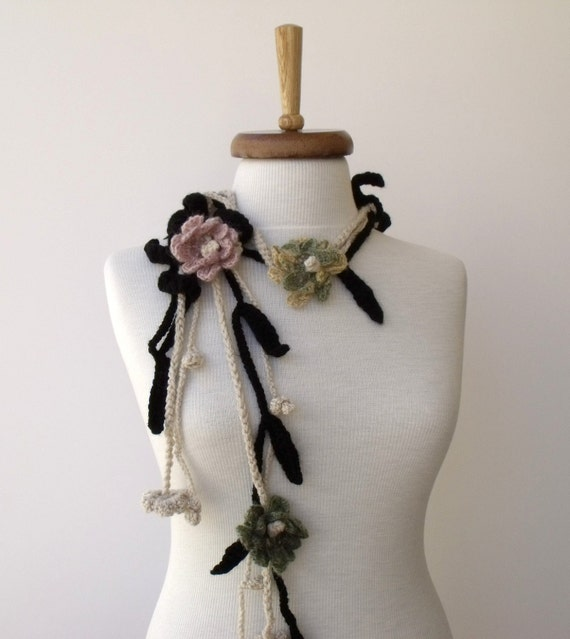 Sale...Sale...Flower Leaf Scarf-Ready For Shipping-For CYBER MONDAY and CHRISTMAS