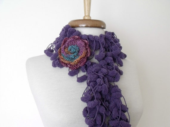SUMMER SALE...Purple Cocoon Scarf-Ready for shipping-Fall Fashion