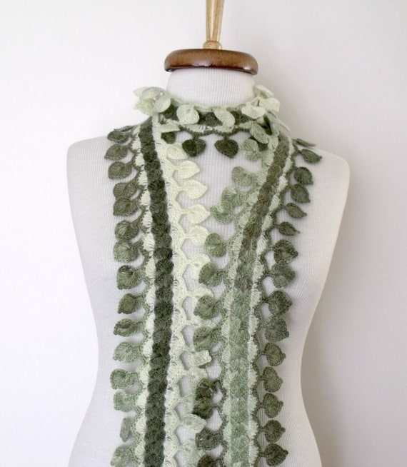 Green Spring Scarf -Ready For Shipping