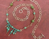 SALE Turquoise and Sterling Necklace